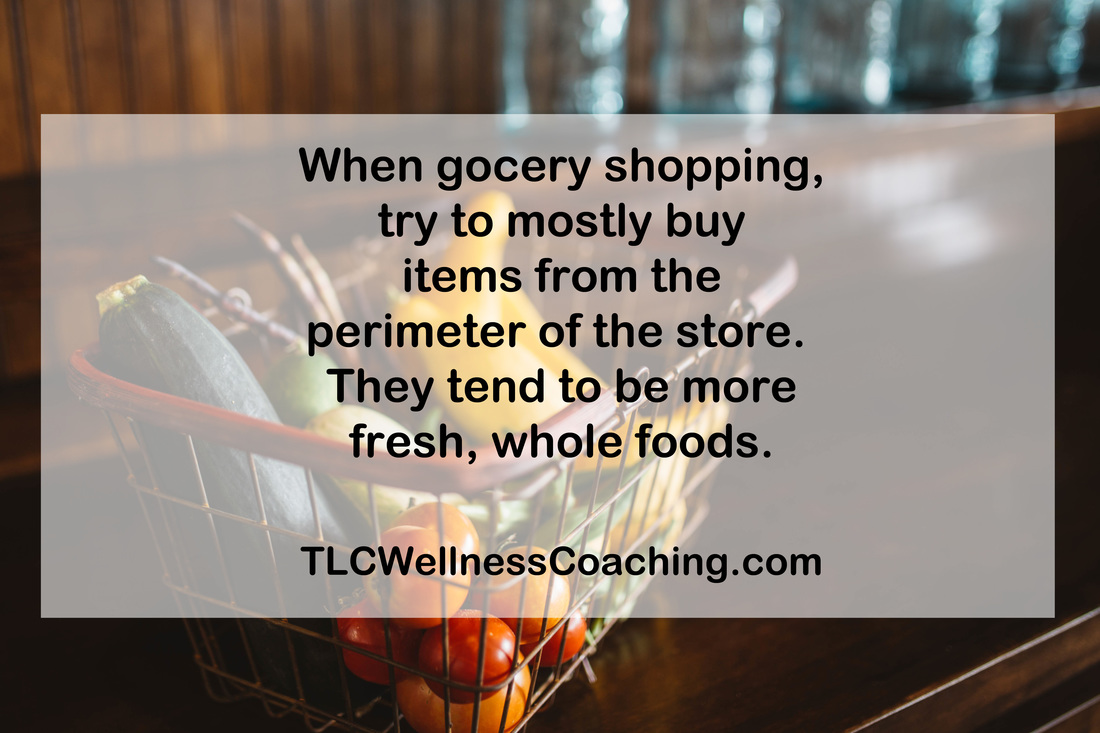 Do you find yourself wandering the aisles at the grocery store and ending up with more sugary or salty snacks than fresh produce? One mistake could be going shopping when you're hungry – that is when your willpower is at its lowest. Not only that, but try to do the majority of your shopping around the perimeter of the store.
