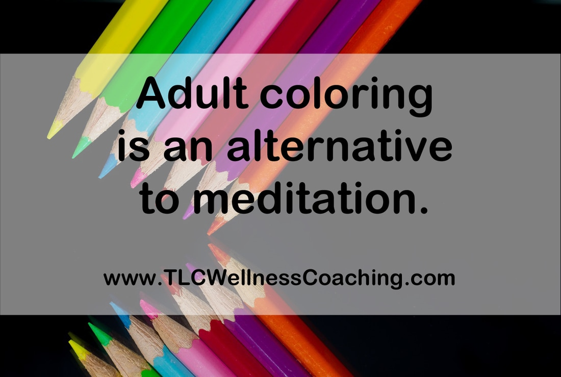 Coloring draws your attention away from yourself and your worries or repetitive thoughts and into the present moment.