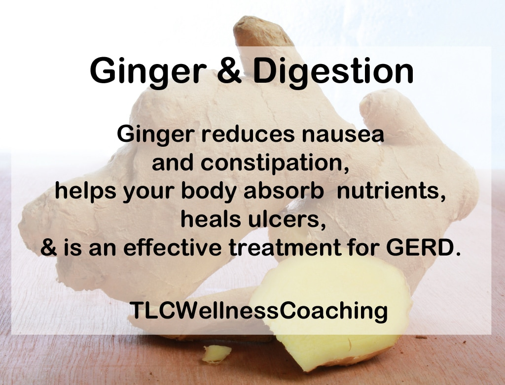 Ginger is wonderful for your digestion! It has been used for thousands of years to treat morning sickness, motion sickness, and nausea.
